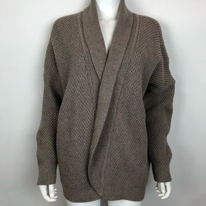 Madewell Cocoon Cardigan Sweater Open-front Brown